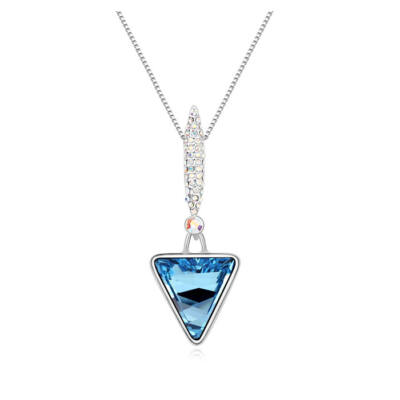 Triangulum - kék- Swarovski kristályos nyaklánc