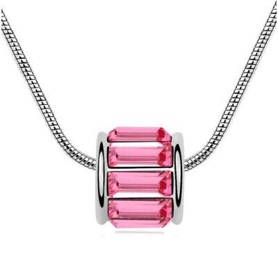 Csodagyöngy- rózsaszín- Swarovski kristályos nyaklánc