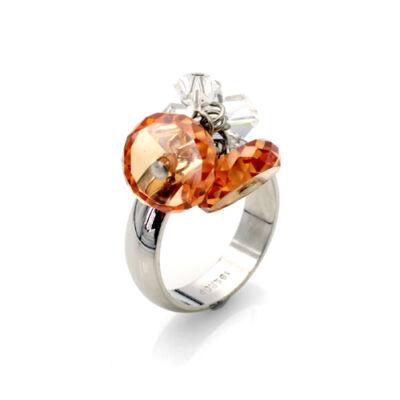 Ambre- Swarovski kristályos gyűrű