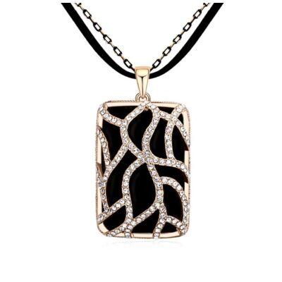 Arany és fekete 3.- Swarovski kristályos nyaklánc