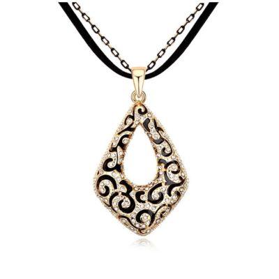 Arany és fekete 1.- Swarovski kristályos nyaklánc
