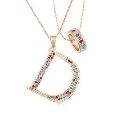 Fashion- színes-Swarovski kristályos - nyaklánc