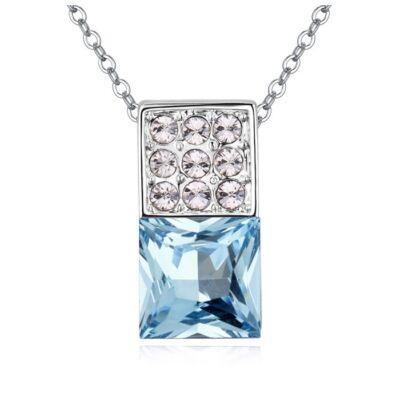 Dominó- kék- Swarovski kristályos nyaklánc