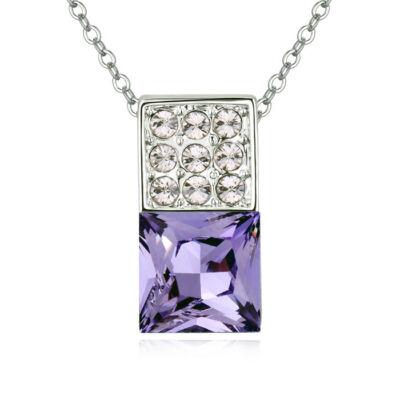 Dominó- lila- Swarovski kristályos nyaklánc