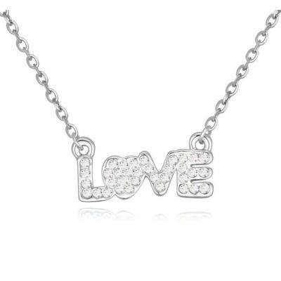 LOVE- fehér- Swarovski kristályos nyaklánc