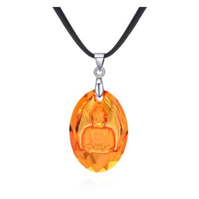 Swarovski Buddha - narancs-Swarovski kristályos - Nyaklánc