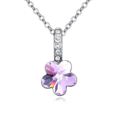 Flower- lila- Swarovski kristályos nyaklánc