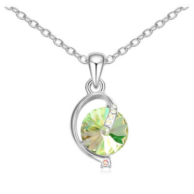 Lámpás- zöld- Swarovski kristályos nyaklánc