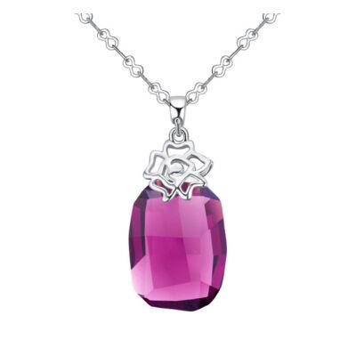 Seduto rose- lila-  Swarovski kristályos nyaklánc