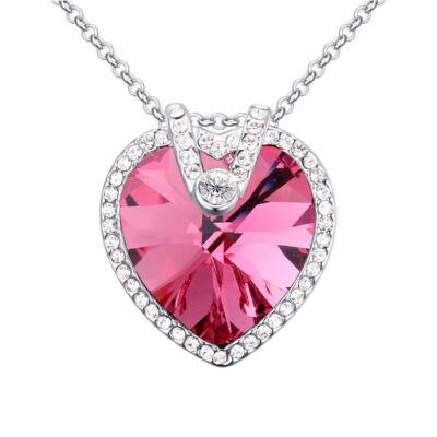 Az éjszaka királynője- rózsaszín- Swarovski kristályos nyaklánc