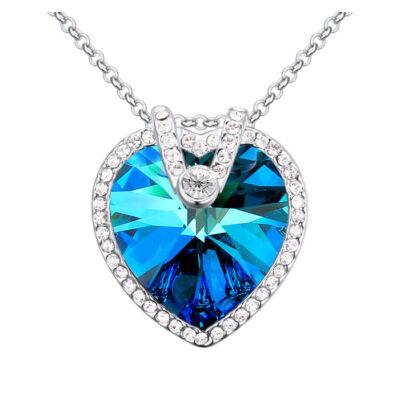 Az éjszaka királynője- kék- Swarovski kristályos nyaklánc