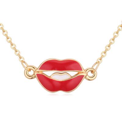 Kiss my lips- arany-  Swarovski kristályos nyaklánc