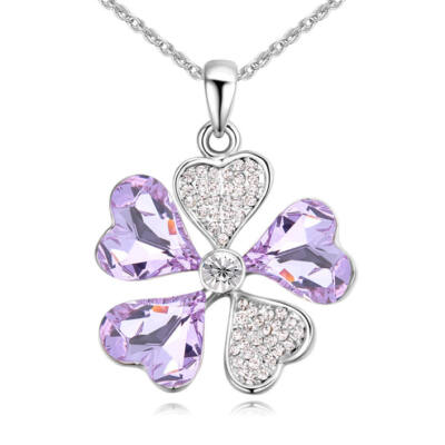 Fiore fortuna- lila- Swarovski kristályos nyaklánc