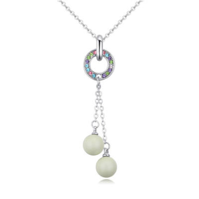 Balls and ring  - színes- Swarovski kristályos nyaklánc