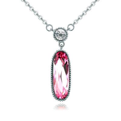 Beauty- Swarovski kristályos nyaklánc-rózsaszín