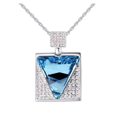 Csoda háromszög- kék- Swarovski kristályos nyaklánc