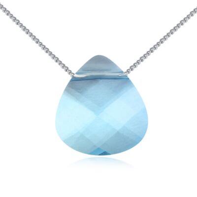 Eső csepp- kék- Swarovski kristályos nyaklánc