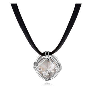 Kockában kristály- ezüst - Swarovski kristályos nyaklánc