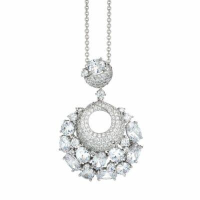 Boccadamo Jewels -  ezüst nyaklánc-Lidian-fehér