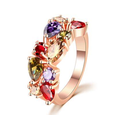 Sissott - cirkóniaköves divatgyűrű - rózsaarany színben