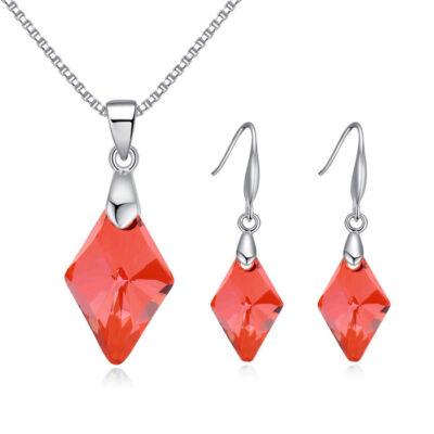 Graceful Vigor - piros - Swarovski kristályos ékszerszett