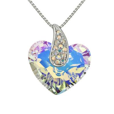 Corazón- Swarovski kristályos nyaklánc-színjátszófehér