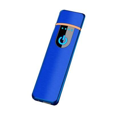 Elegáns USB öngyújtó, látványos bekapcsológombbal - kék