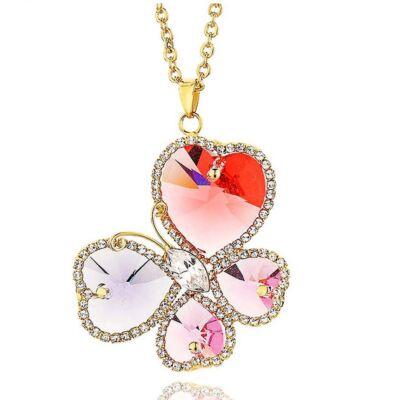 Virágzó szív - Swarovski kristályos nyaklánc