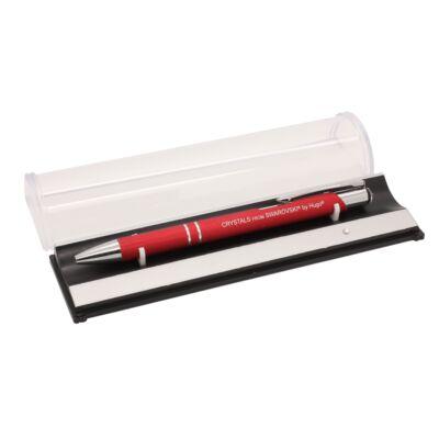 HUGO® - Swarovski kristályos toll - szálhúzott piros