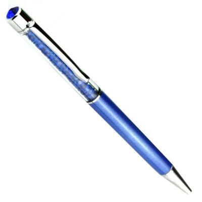 Swarovski kristályos toll ( golyóstoll ) kék tintával - királykék