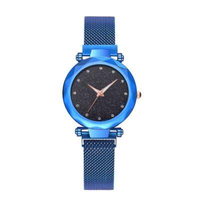 Stardust - hátlapon gravírozható csodaszép, mágneses kapcsolódású női karóra - kék