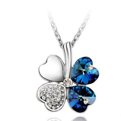 Szerencse - színváltós kék - Swarovski kristályos nyaklánc