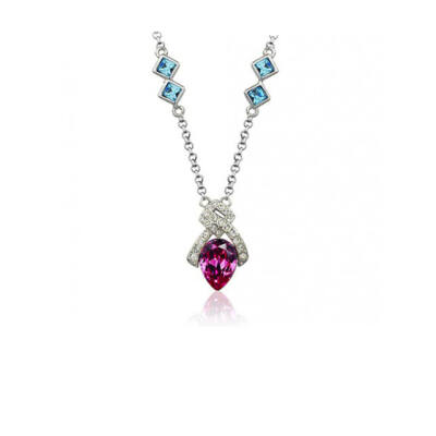 Ornatus -kék és rózsaszín - Swarovski kristályos - Nyakék