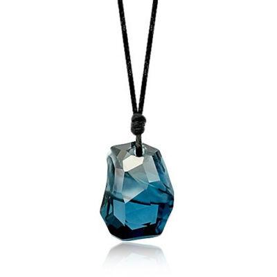 Kék kavics - Swarovski kristályos - Medál