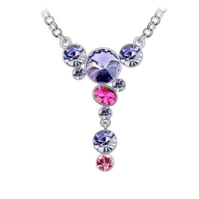 Botrus - lila - Swarovski kristályos - Medál