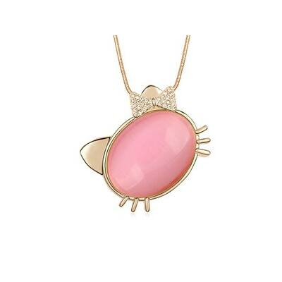 Macsek - nyaklánc- rózsaszín