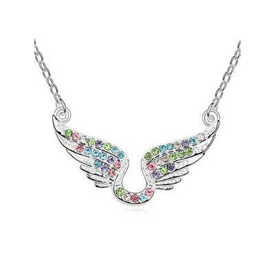 Szivárvány angyal - Swarovski kristályos nyaklánc