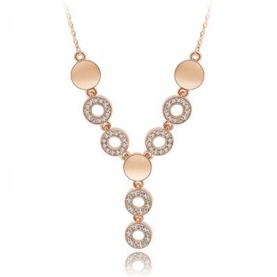 Aranyfürt nyakék - Swarovski kristályos