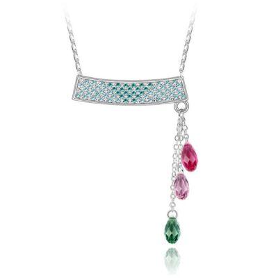Függő kristályok nyaklánc - színes - Swarovski kristályos