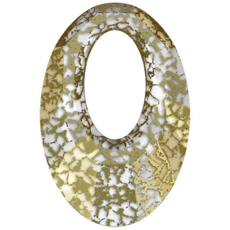 Helios Swarovski medál - vastag vagy vékony nyaklánccal - Gold Patina - fehér