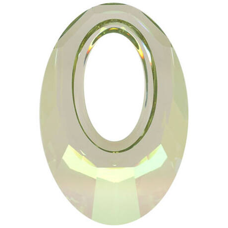 Helios Swarovski medál - vastag vagy vékony nyaklánccal -Crystal Luminous Green - zöld