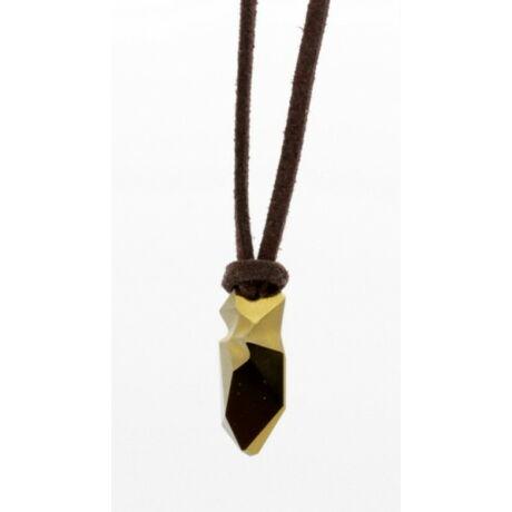 """Kaputt pendant"" -Swarovski medál bőrkötélen- Dorado"