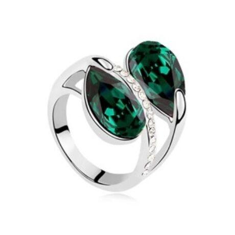 Óz birodalma - smaragd zöld - Swarovski kristályos