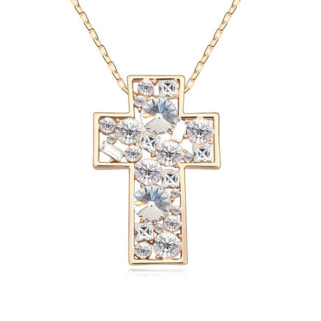 Iglesia- fehér - Swarovski kristályos nyaklánc