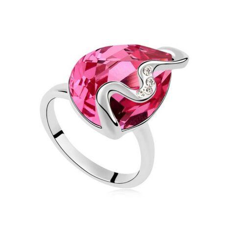Rose brush- Swarovski kristályos - Gyűrű - rózsaszín