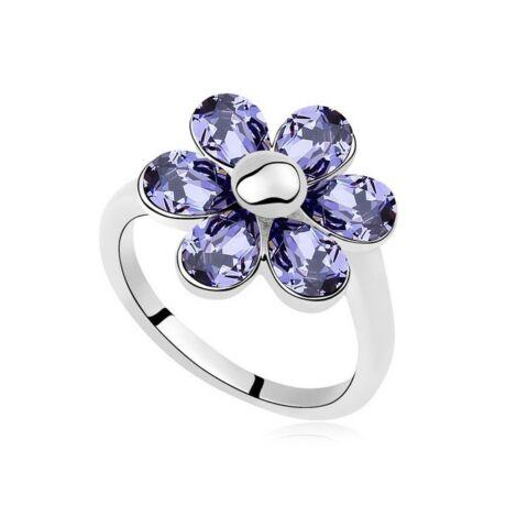 Blossom - Lila - Swarovski kristályos - Gyűrű
