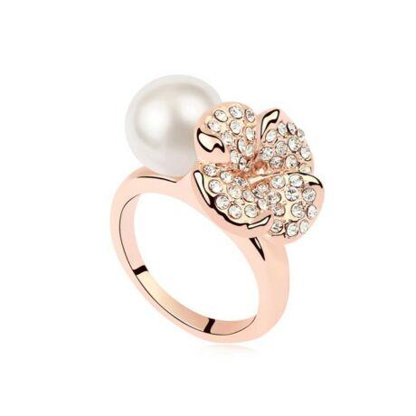 Mira - Fehér- Swarovski kristályos - Gyűrű