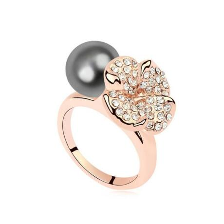Mira - Ezüstszürke - Swarovski kristályos - Gyűrű