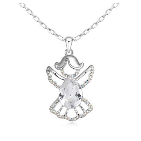 Angyal- fehér- Swarovski kristályos nyaklánc
