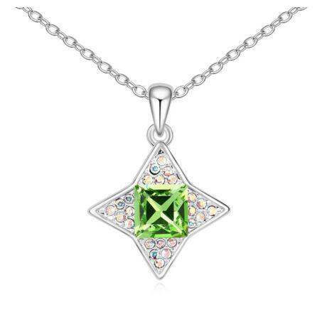 Orion - zöld - Swarovski kristályos nyaklánc